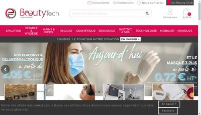 Site internet de So Beauty Shop