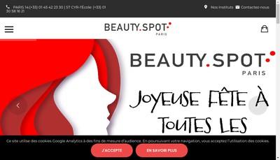 Site internet de Beauty Spot