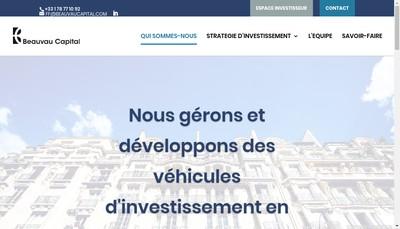 Site internet de Beauvau Capital