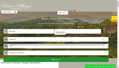 Site internet de Beaux Villages Properties