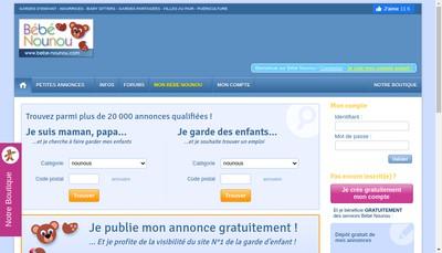 Site internet de Bebe Nounou