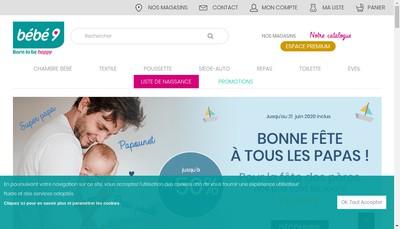 Site internet de Bebe9