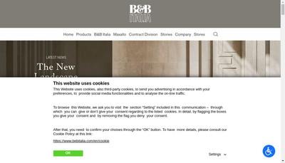 Site internet de B&B Italia Paris
