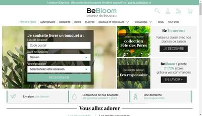 Site internet de France Bouquets - Bebloom