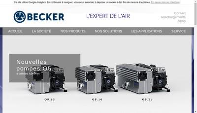 Site internet de Becker France