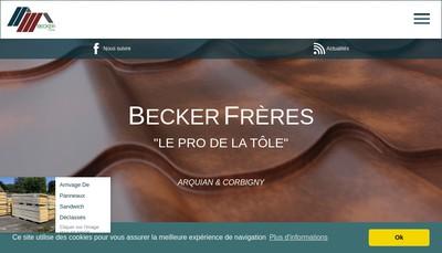 Site internet de Societe Becker France