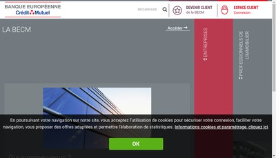 Site internet de Banque Europeenne du Credit Mutuel