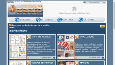 Site internet de Bedis SARL - Bureau d'Etudes Developpement Ingenierie Services