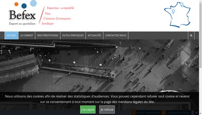 Site internet de Befex