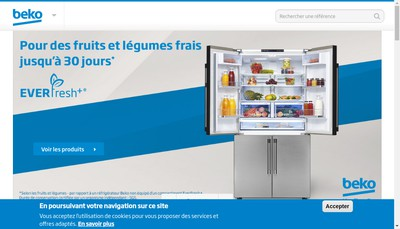 Site internet de Beko France