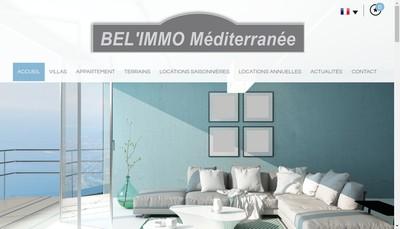 Site internet de Bel'Immo Mediterranee