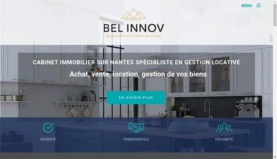 Site internet de Bel Innov Gestion