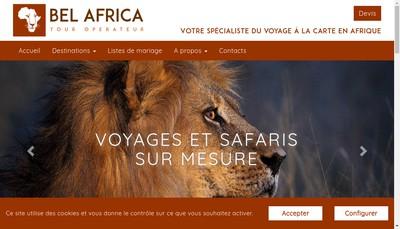 Site internet de Aerocap Services - Bel Africa