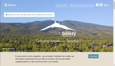 Site internet de Belezy Provence