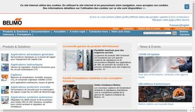 Site internet de Belimo