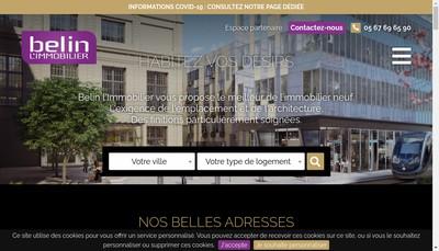 Site internet de Belin Promotion