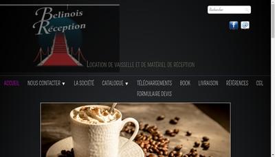 Site internet de Belinois Reception