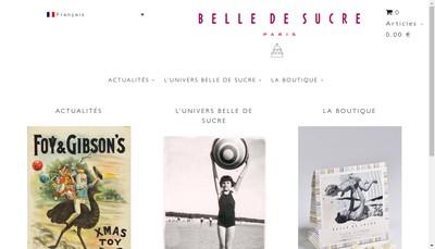 Site internet de Belle de Sucre SARL
