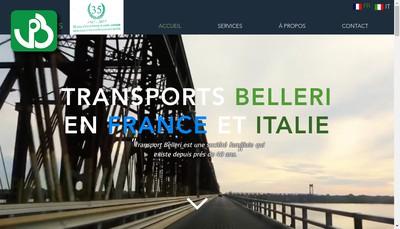 Site internet de Transports Belleri