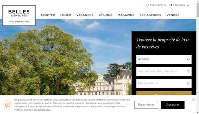 Site internet de Belles Demeures