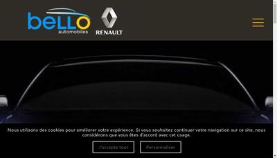 Site internet de Bello Automobiles