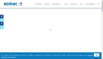 Site internet de Bemac