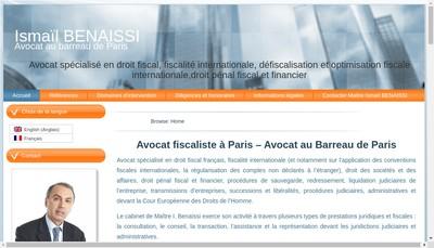 Site internet de Fiscaliste Paris - Ismail BENAISSI