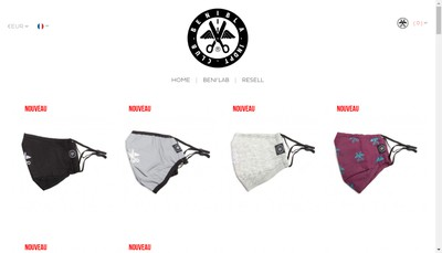Site internet de Benibla Clothing