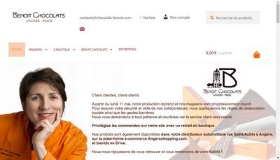 Site internet de Chocolats Benoit