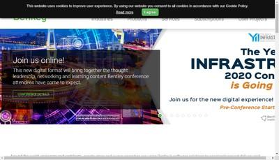 Site internet de Bentley Systems France