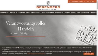 Site internet de Berenberg Bank