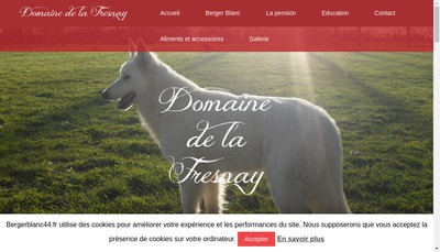 Site internet de Domaine de la Fresnay