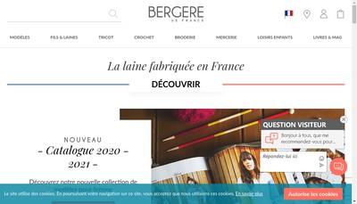 Site internet de Bergere de France