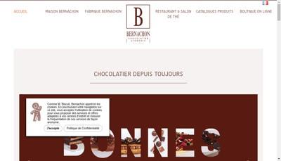 Site internet de Bernachon Passion
