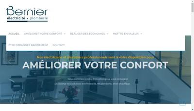Site internet de Bernier Electricite Plomberie