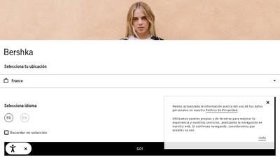 Site internet de Bershka France