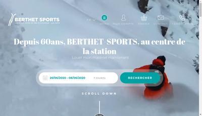 Site internet de Berthet Sports