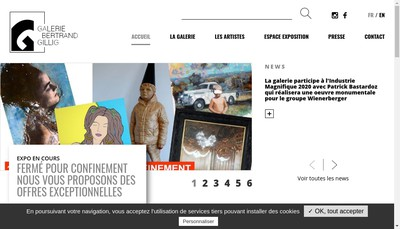 Site internet de Galerie Bertrand Gillig