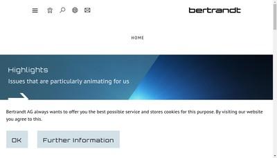 Site internet de Bertrandt