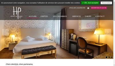 Site internet de Hotel de Paris