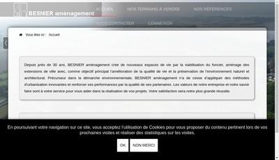 Site internet de Besnier Amenagement