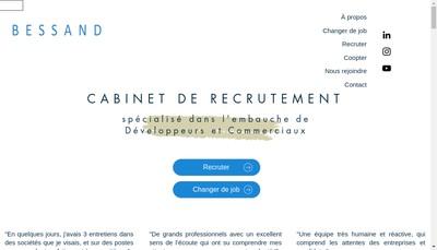 Site internet de Bessand Recrutement