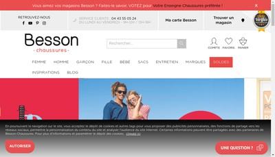 Site internet de Besson Chaussures