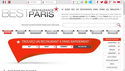 Site internet de Reserve The Best In France