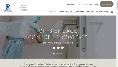 Site internet de Crystal Hotel
