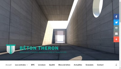 Site internet de Beton Theron