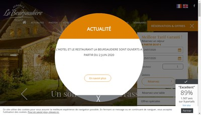 Site internet de Hotel de la Beursaudiere
