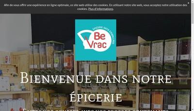 Site internet de Be Vrac