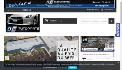Site internet de Bf-Auto Parts