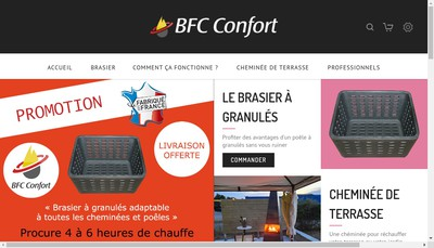 Site internet de Bfc Confort
